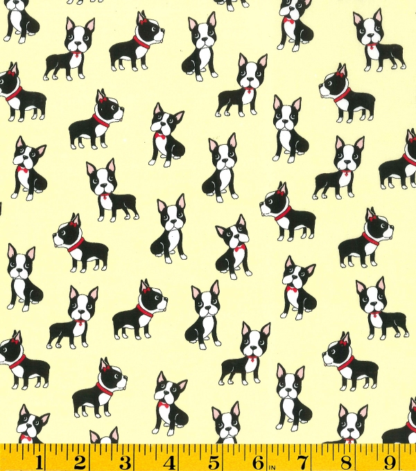 This adorable puppy print from Joann Fabrics is cute, but not obnoxious.