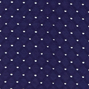 Navy Latticed Cotton