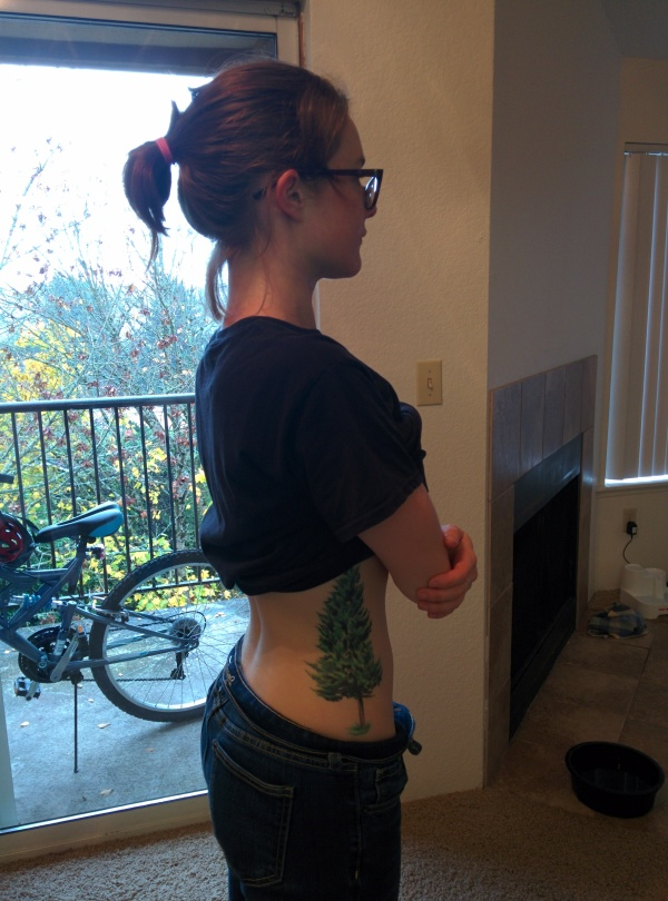 This is before I adjust my posture. Can you see the large dip in my lower back?